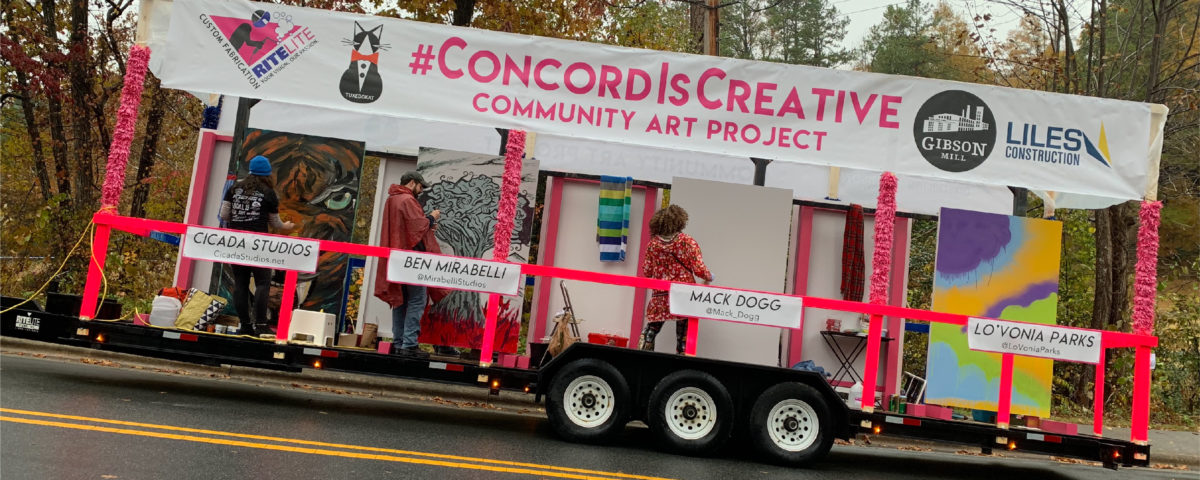 #ConcordIsCreative christmas float driving up hill