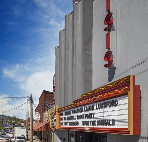 Custom marquee reader board canopy for Isis Music Hall in Asheville NC