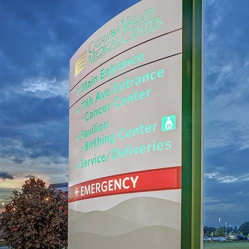 Catawba Valley Medical Center Rite Lite Signs