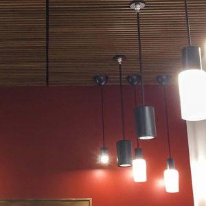 Final result of light fixture installation at Life Fellowship Church