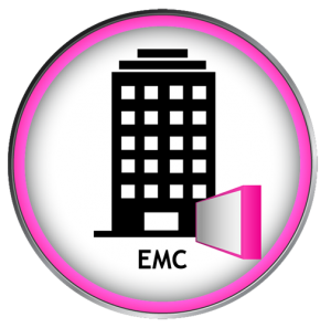 Vector graphic of building with an EMC
