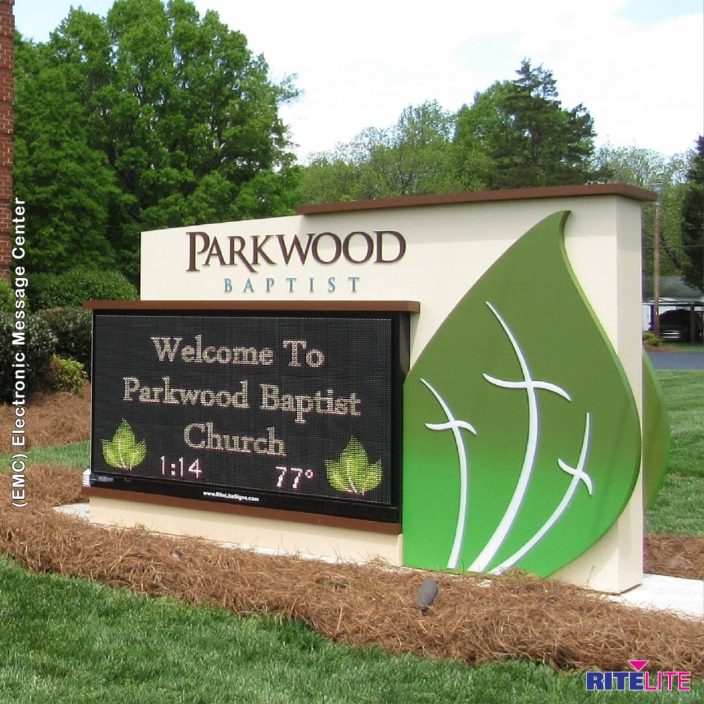 Parkwood baptist sign with emc