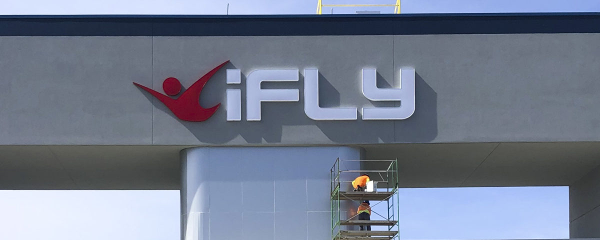 iFly Charlotte external signage