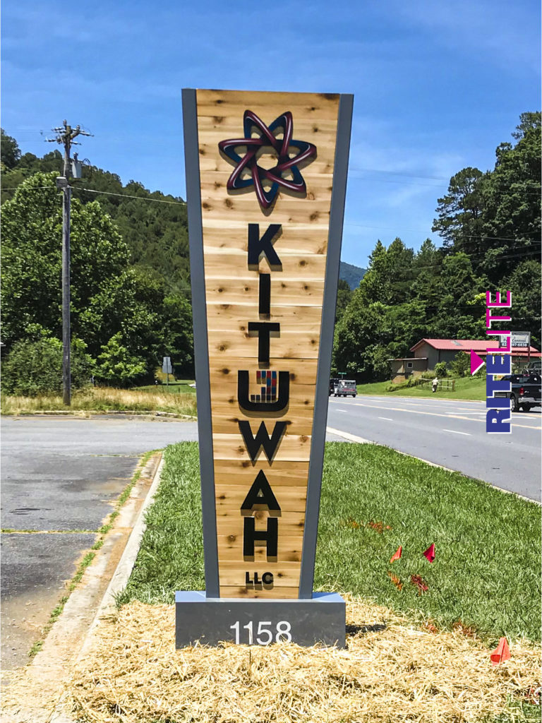 Custom pylon sign for Kituwah by Rite Lite Signs