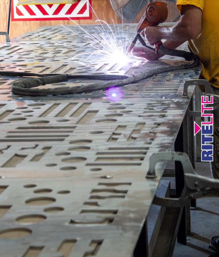 Fabrication of decorative fence at Rite Lite facility