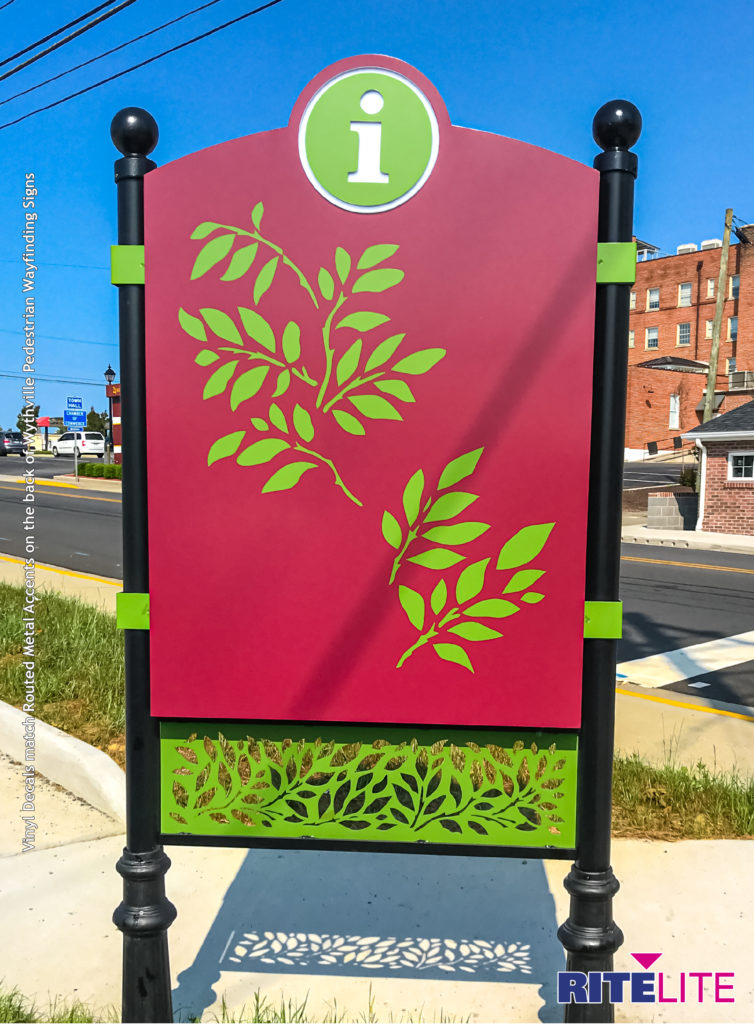 Back of Wytheville Pedestrian Wayfinding Map sign