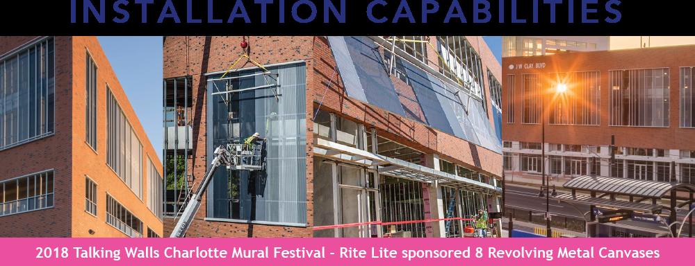 RiteLite has many installation capabilities