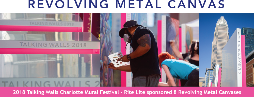 RiteLite supports local artists - metal canvas