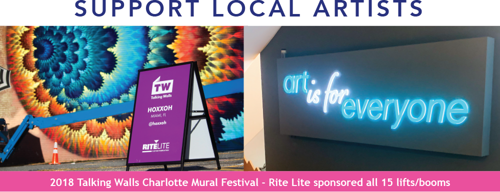 RiteLite supports local artists