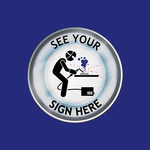 your sign here blue